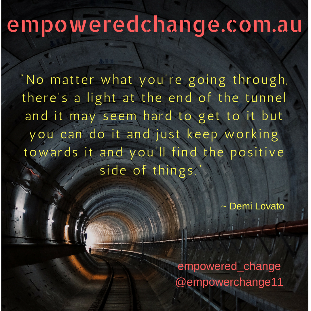 positive change, success, light in tunnel